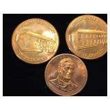 3. Copper Rounds, 69g (tw), 1- John Wayne, 2-Dept