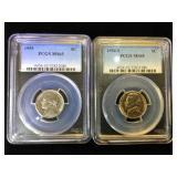 1954-S & 1955. PCGS MS65 Jefferson Nickels