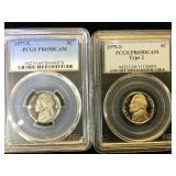 1977-S & 1979-S  PCGS PR69 DCAM Jefferson Nickels