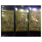 3- One Utah Goldbacks , 1/1000 Troy oz. Gold each
