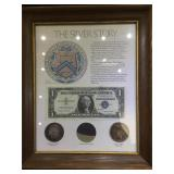Framed The Silver Story, 1889 Morgan, 1923 Peace