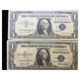 1935F & 1957A  $1 Silver Certificates
