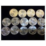 14- Presidential Dollars, variety