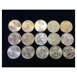 15- Presidential Dollars, various Presidents &