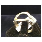 Sterling  loop ring, size 8
