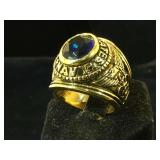 United States Navy ting, w/ blue center, size 9