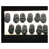 12 Jade Zodiac pendants