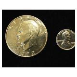 1972 Copper- nickel Clad Eisenhower & plated