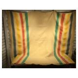 Antique/vintage Hudson Bay type wool blanket