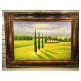 Original artist signed oil on canvas, framed to