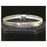 Sterling bracelet, 17.5g