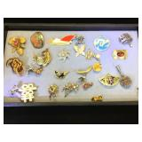 Collection of vintage brooches, Alpaca & more
