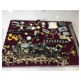 Large assortment of fashion jewelry & watches