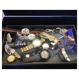 Large assortment of watches, Timex, Suizo & more