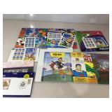 Collection of Stamp Comic Books & Souvenir books,