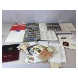 Large assortment of vintage canceled stamps &