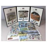 Album of Kitty Hawk to Mars stamps & approx. $50