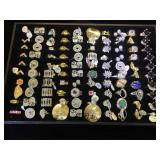 Approx. Sterling 100 Fashion rings, sizes 6,7 &