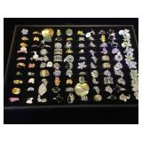 Approx. 100 Fashion rings, sizes, 5,6,7 & 8, t