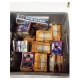 Crate with sports cards & Beckett magazines