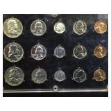 Plaque of 1956, 1957 & 1958 Silver Mint Sets