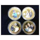 4- One Crown 2014 colorized  UK Coins