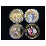 4- One Crown  2014 colrized UK Coins