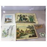 Vintage Papyrus  mat, various prints & more