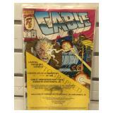 2 autographed John Romita Marvel Cable comics w/