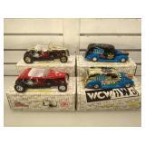 4 die-cast 1:24th scale WCW-nWo cars w/ COA, all