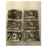 6 Gary Prazen belt buckles