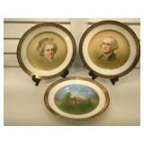 Hutschenreuther Hohenberg plates featuring George