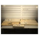 7 wood model airplanes in original boxes, no