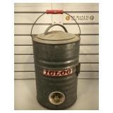 Vintage metal Igloo 3 gallon water cooler