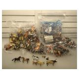 Large lot of animal figures & some fencing