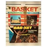 2 vintage mini basketball court games, 1 missing