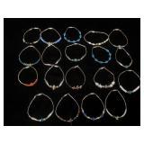 19 Southwest bracelets w/ stone beads
