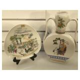 Signed Rosenthal hand painted plate & double