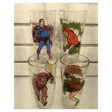 4 DC superhero cups
