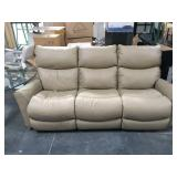 La-Z-Boy leather double recliner couch - great