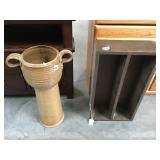 2 foot tall ceramic umbrella stand and small