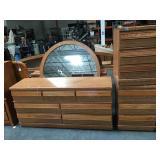 Wooden queen size bedroom set - headboard,