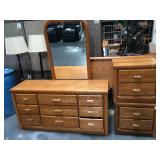 Wooden Broyhill king size bedroom set -
