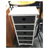 White and charcoal 6 drawer baby dresser with