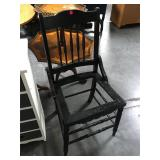 Vintage painted black chair - ready for