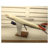 British Airways passenger plane model, measures