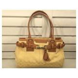 Coach canvas & leather monogram handbag