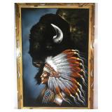 Original painting on velvet signed by artist,