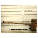 Large replica black smiths hammer, approx 38