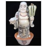 Bone scrimshaw buddha, excellent condition,